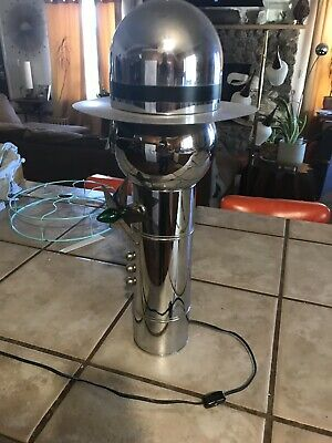 Rare Torino Policeman Robotic Space Age Lamp Chrome 1970s Near Mint