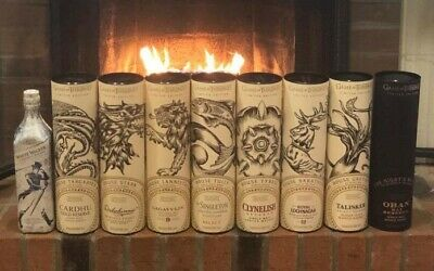 Game of Thrones Scotch Whisky Set - Includes Rare House Tyrell & White Walker