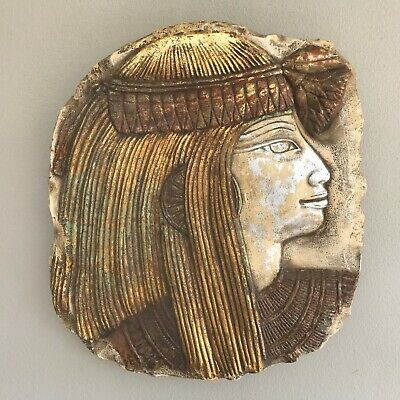 Egyptian Queen Nefertiti Wall Plaque Relief Sculpture ~ Made In Egypt
