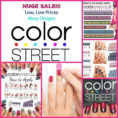 color street nail strips ~ buy 3 get 1 FREE!! ~ low, low prices ~ HUGE SALE!!!