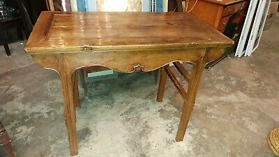 Antique Chinese 250 yr old Sword Leg Table - ELM Wood - So Nice