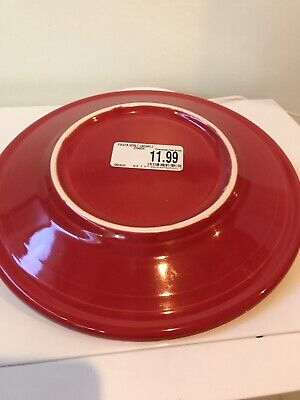 """NEW HOLIDAY CHRISTMAS FIESTAWARE FIESTA WARE SCARLET LUNCHPLATE 9"""" Lunch Plate"""