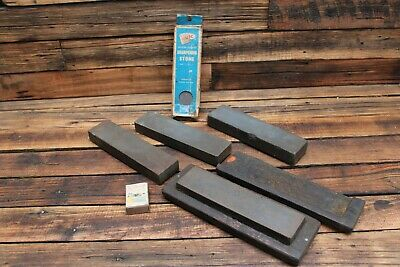 Vintage Knife Sharpening Stone Wet Silicone Carbide Axe Old Tool