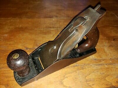 Vintage Stanley Bailey Plane No. 4 Woodworking Tool type 11 1910 - 1918