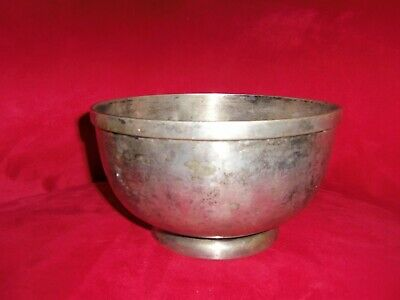 "ANTIQUE HEAVY SILVER PLATED BOWL INTERNATIONAL SILVER COMPANY 8.5""x 5"""