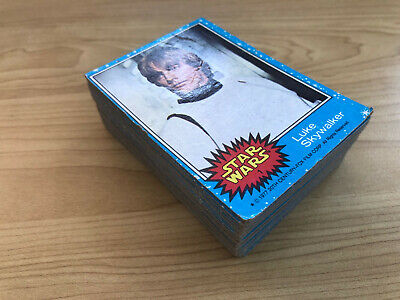 Star Wars - Series 1 (BLUE) - Complete Trading Card Set (66) 1977 - G