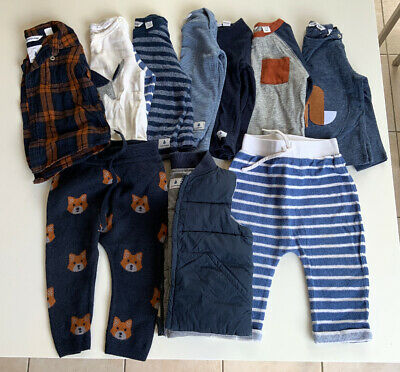 COUNTRY ROAD  - Baby Boys Blue and Camel Clothing - Size 12-18 mths