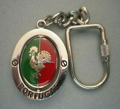 Souvenir from Barcelos Portugal  - Portuguese Good Luck Rooster Keychain - Metal