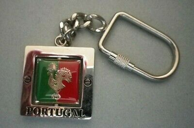 Souvenir from Barcelos Portugal  - Portuguese Good Luck Rooster Keychain Square