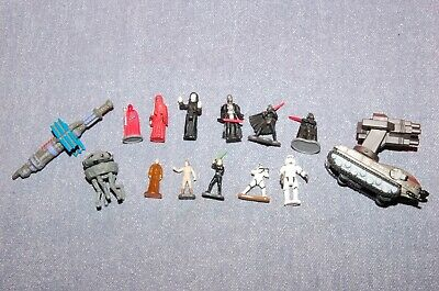 Lot of 11 Vintage Galoob, Micro Machines, Star Wars Action Figures, Plus Extras