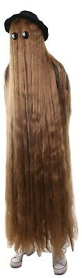 """Brown 66"""" Long Straight Wig Cosplay The Addams Family Cousin It Costume HM-1133"""