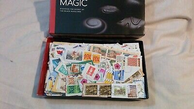 Black Magic  Box Full Of Stamps On Paper