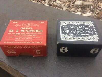 Superb Cond Old Vintage Cardboard & Tin Detonators Australian Advertising