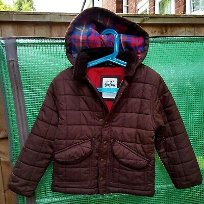 mini Boden boys fleece lined quilted jacket/coat  ( 4-5 yrs)