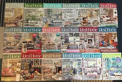 18x Ideal Home Magazines, 2016/2017/2018