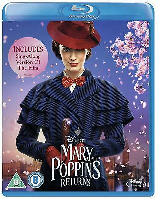 Mary Poppins Returns 2019 Includes Sing Along Version (New Sealed Blu-ray)