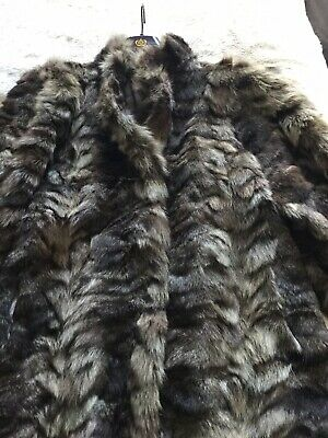 Vintage Real Fur Coat Size Medium - Exquisite