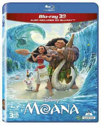 Moana 3D Blu-ray Also Includes 2D Edition in Pack (New Sealed Disney Blu-ray)