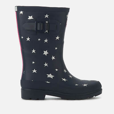 NEW! Joules Junior Girls' Navy Star Wellies Childrens  size 11 and 1