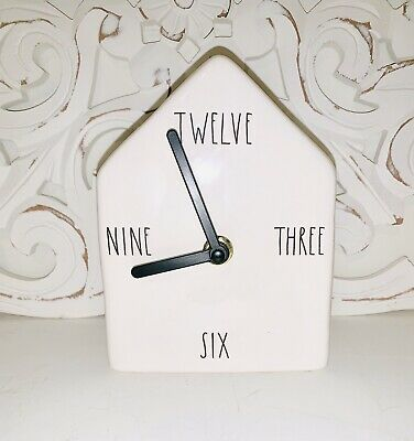 NEW Rae Dunn Ceramic Birdhouse - Magneta - TWELVE THREE SIX NINE CLOCK