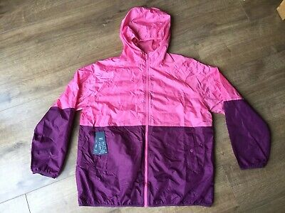 BNWT M&S Ladies Pink & Purple Pack A Mac - Size Large - RRP £15