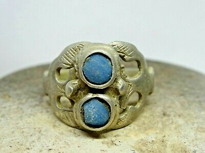 Silver medieval ring 16-18th century.
