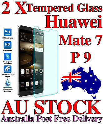 2X Scratch Resist Tempered Glass Screen Protector film for Huawei mate 7 P9 p20