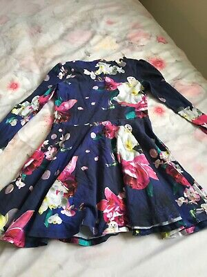 Girls Ted Baker Floral Print Dress Age 5-6