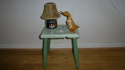 Primitive Vintage Antique Wood Stool Foot Stool Small Chippy Paint. Display/Prop