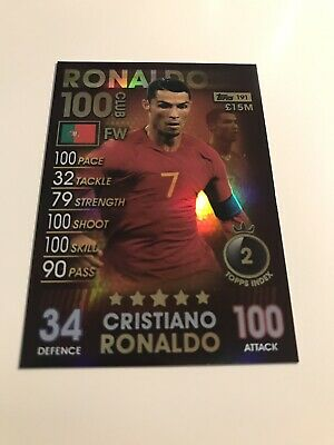 Match Attax 101 Cristiano Ronaldo 100 Club 2019