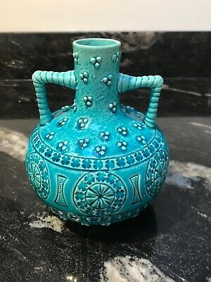 Burmantofts Faience Vase 1895 In Turquoise Glaze In Excellent Condition