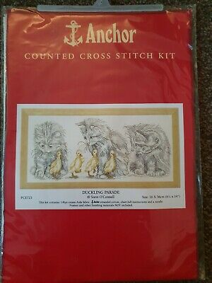 PCE0503 Anchor Kittens Counted Cross Stitch Kit Hanging Around