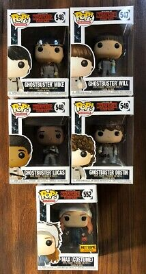 Funko Stranger Things Ghostbuster Mike Will Lucas Dustin & Max Michael Myers Exc