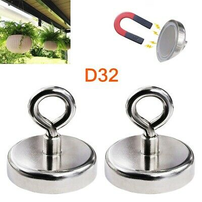 Recovery Magnet Clamping 32mm X 48mm Very Strong Sea Fishing Treasure Hunting UK