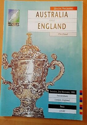 Rugby World Cup 1991 England v Australia Final Official Programme
