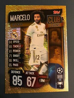 Topps Match Attax 2019/20 #298 Marcelo Real Madrid Limited Edition Foil