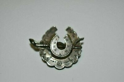 Victorian Antique Aesthetic Period Silver Horseshoe Brooch 2.17 grams