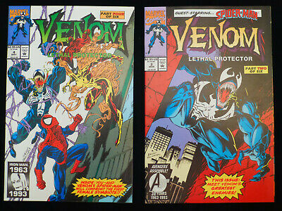 Venom: Lethal Protector #2 and #4 (May 1993, Marvel) never read beautiful