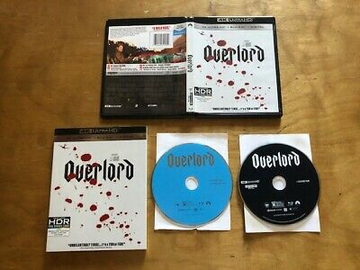 Overlord 4K Ultra HD/Blu ray*Paramount*Slipcover*J.J.Adams*No Digital*2 Disc*