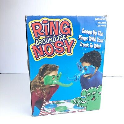 Ring Around the Nosy Elephant Trunk Game Complete Pressman  2 player