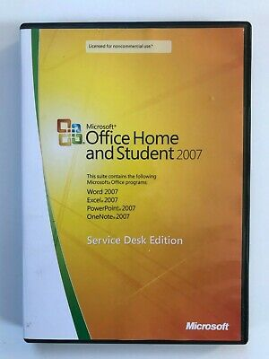 Microsoft Office Home and Student 2007 GENUINE for 3 PCs