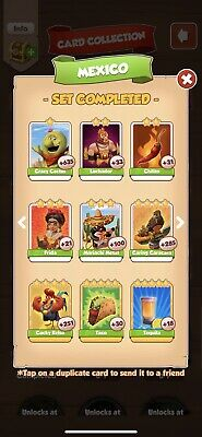 Coin Master Mexico Set 6 Cards (Fast Delivery) No Golds