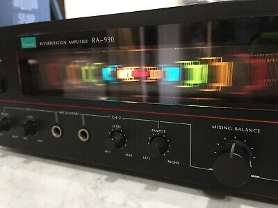Vintage Sansui RA-990 Reverberation Amplifier Reverb Amp tested