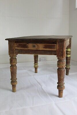 Antique Victorian Pine Welsh Cottage Kitchen Table