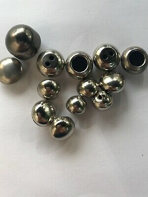 Assorted Metal And Plastic Silver Round Dome Buttons