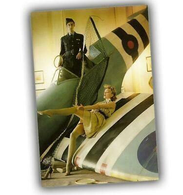 """War Photo speedfire pinup Nice Sexy Woman Aircraft Great Britain WW2 Size 4x6"""" I"""