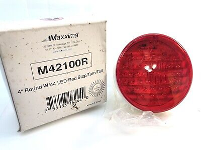 """Maxxima Vintage Red 4/"""" Round Stop Turn Tail Park Light 32 LED STT Dump Truck"""