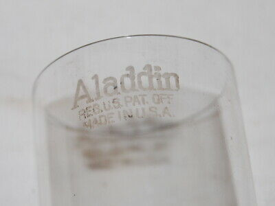 Antique Old Style 3 line Slip on Aladdin oil lamp Chimney