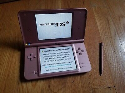 NINTENDO DSi XL HANDHELD VIDEO GAME CONSOLE w/ STYLUS PINK CLEAN NEAR MINT