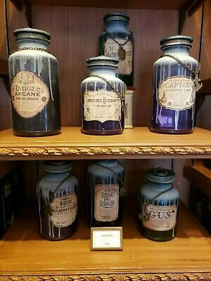 9 Disney Haunted Mansion 50th Anniversary Set Host a Ghost Jars W/ Passholder